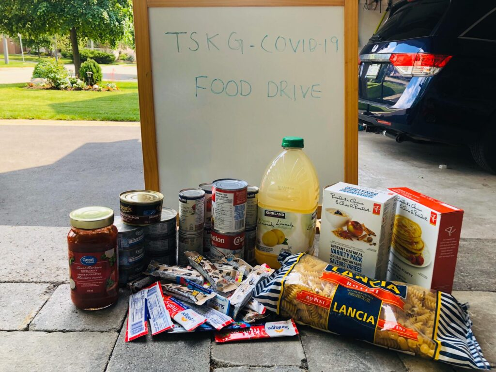 TSKG Food Donation in Mississauga